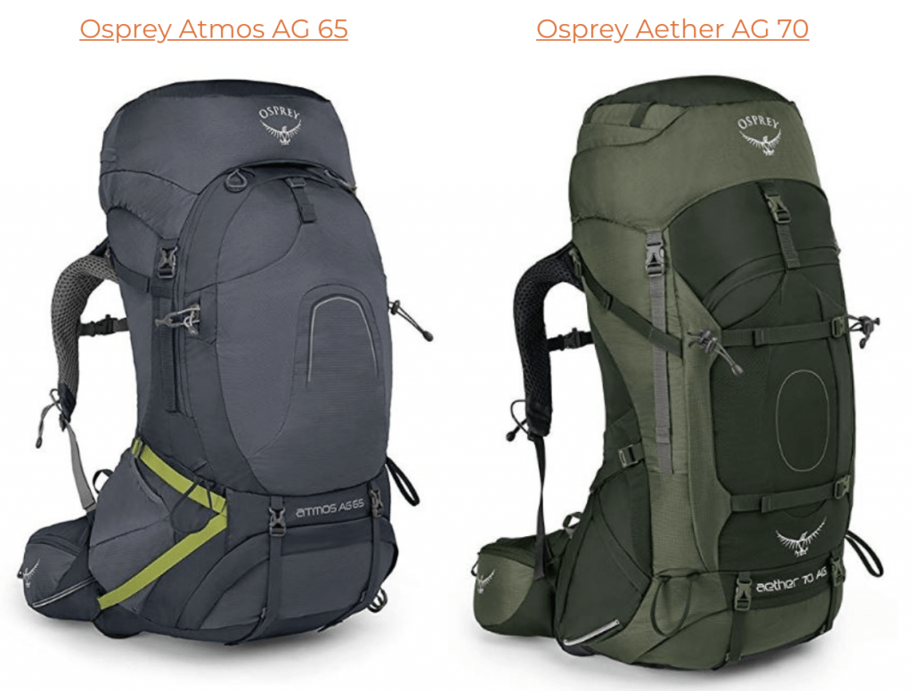 osprey atmos 65 vs aether 70 packpack